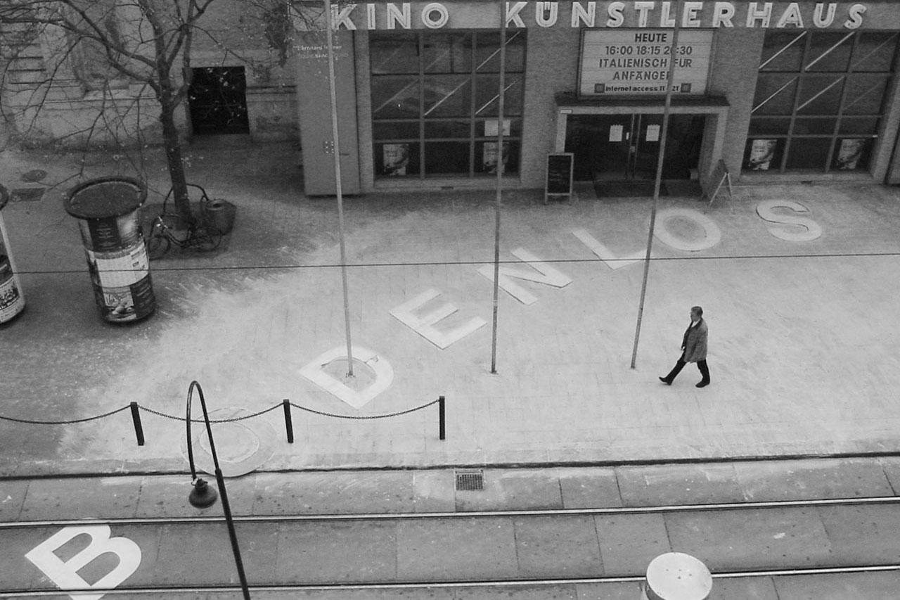 """Common Ground – Bodenlos. Installation, 2002. Group exhibition """"mega – Manifeste der Anmaßung"""", Künstlerhaus, Vienna (AT). Photo: Assocreation."""