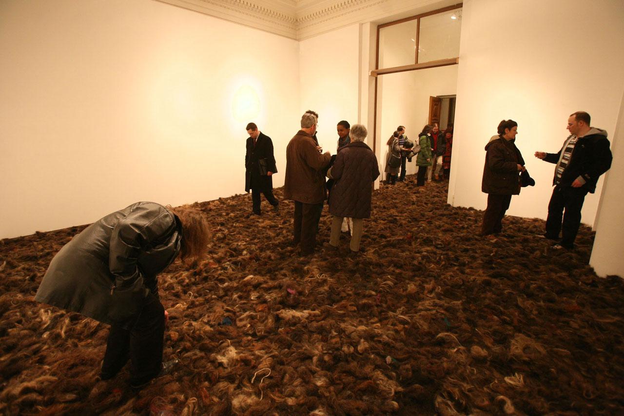 """Fieldwork. Installation, 2009. Solo exhibition """"taste it!"""". Künstlerhaus, Vienna (AT). Photo: Assocreation."""