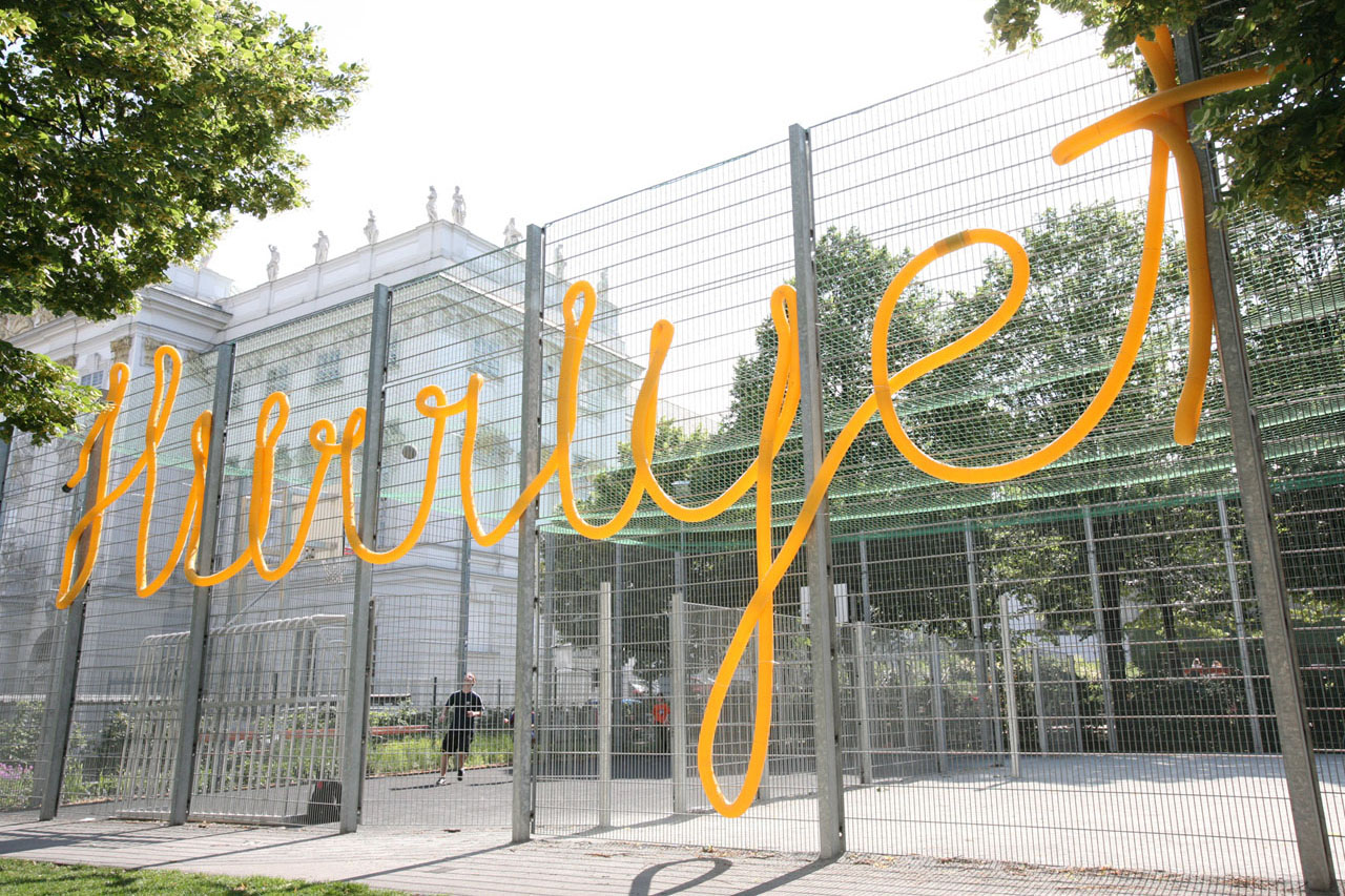 Freedom. Installation, 2005. Basketball court Weghuberpark, Vienna (AT). Photo: Assocreation.